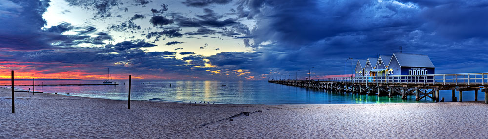 BUJ06f - Busselton Jetty Twilight Blues
