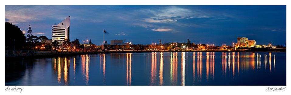 BUN12 - Bunbury City Twilight, Large Desktop