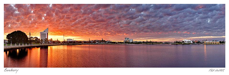BUN13 - Bunbury City Sunset, Large Desktop