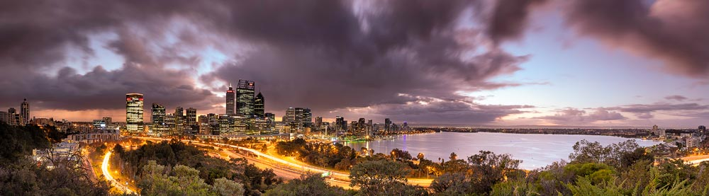 PER10f - Perth City Panorama from Kings Park